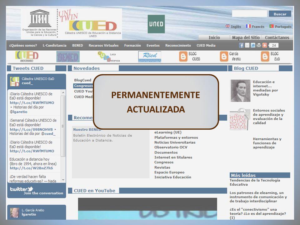 09/02/2012VI Encuentro de Cátedras UNESCO de España PERMANENTEMENTE ACTUALIZADA