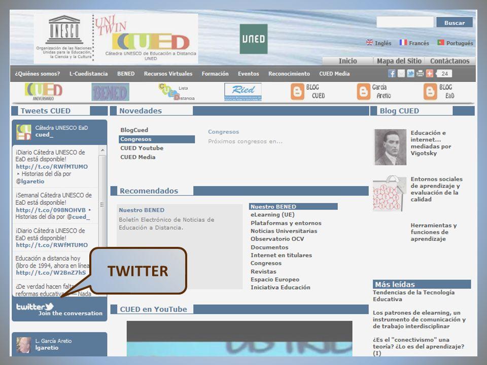 09/02/2012VI Encuentro de Cátedras UNESCO de España TWITTER