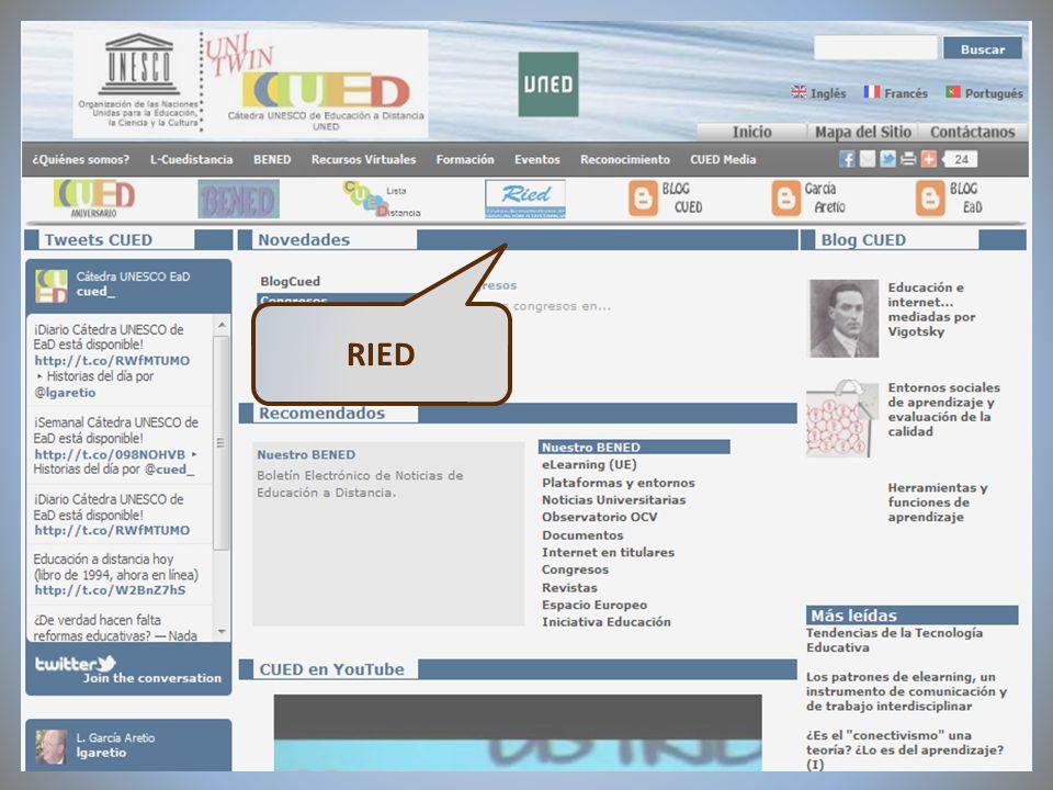 09/02/2012VI Encuentro de Cátedras UNESCO de España RIED