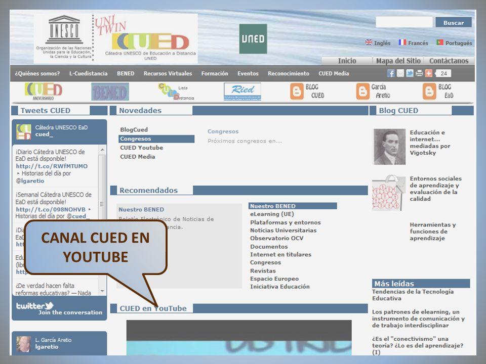 09/02/2012VI Encuentro de Cátedras UNESCO de España CANAL CUED EN YOUTUBE