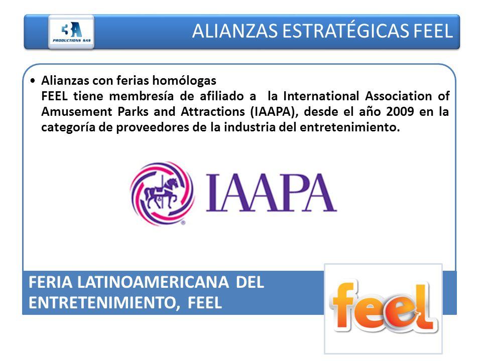 ALIANZAS ESTRATÉGICAS FEEL Alianzas con ferias homólogas.. FEEL tiene membresía de afiliado a la International Association of Amusement Parks and Attr