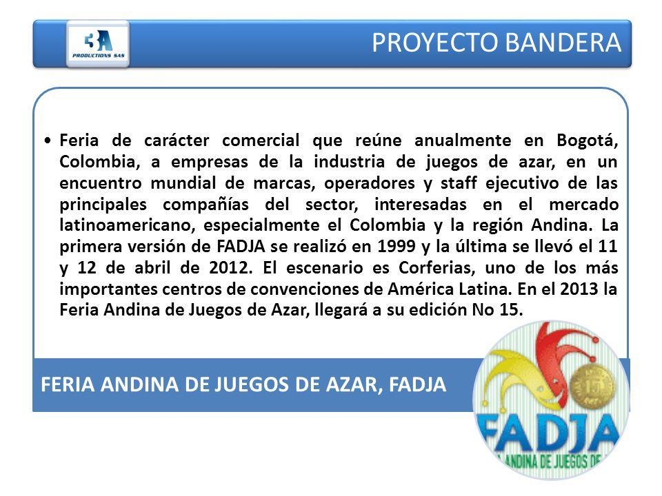Feria de carácter comercial que reúne anualmente en Bogotá, Colombia, a empresas de la industria de juegos de azar, en un encuentro mundial de marcas,