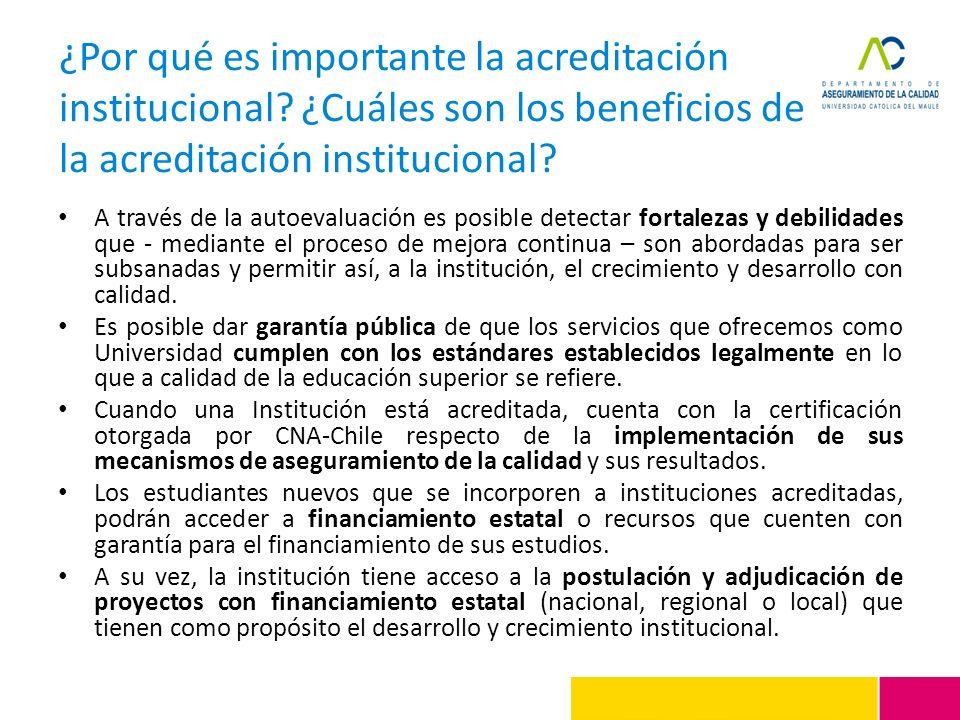 ¿Por qué es importante la acreditación institucional? ¿Cuáles son los beneficios de la acreditación institucional? A través de la autoevaluación es po
