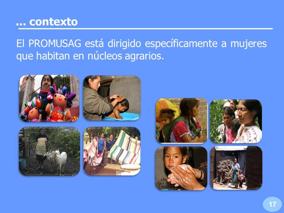 Promover la integración económico-productiva de las mujeres del sector agrario.
