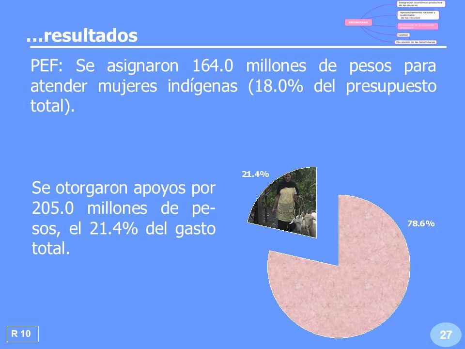 R 11 28 Se apoyaron 2,316 pro- yectos productivos que beneficiaron a 20,243 mujeres.