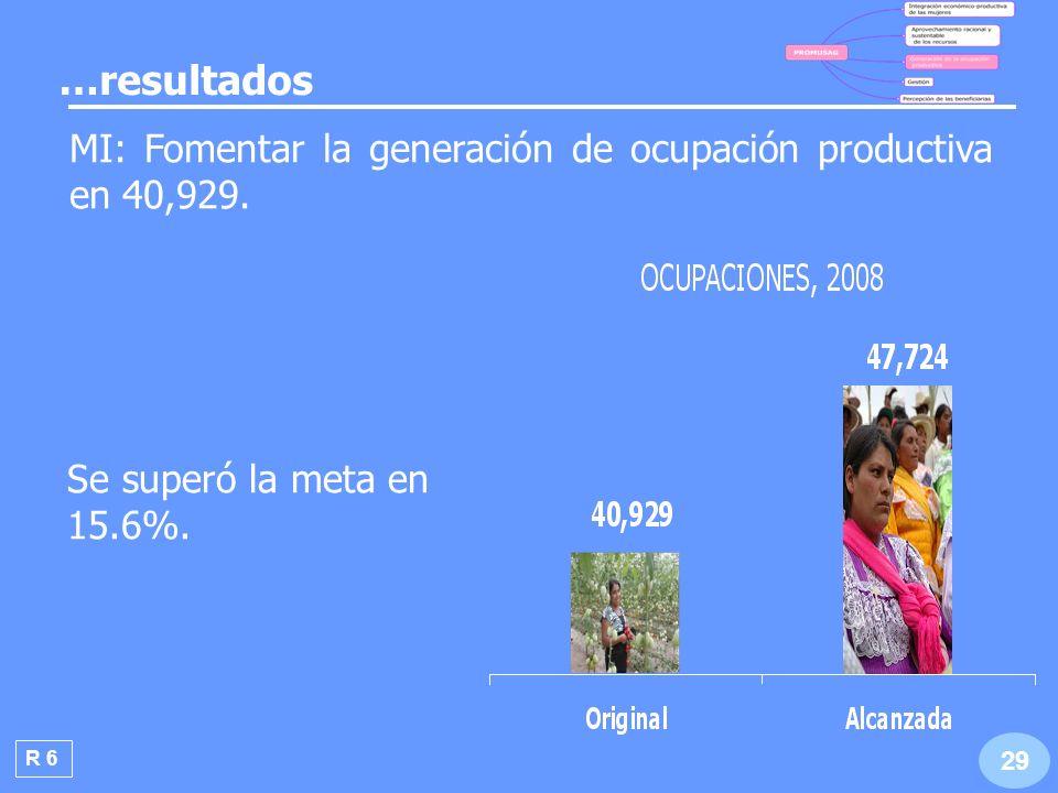 Durante 2008 se benefició con el PROMUSAG a 47,724 mujeres, el 2.2% de la población objetivo del programa.