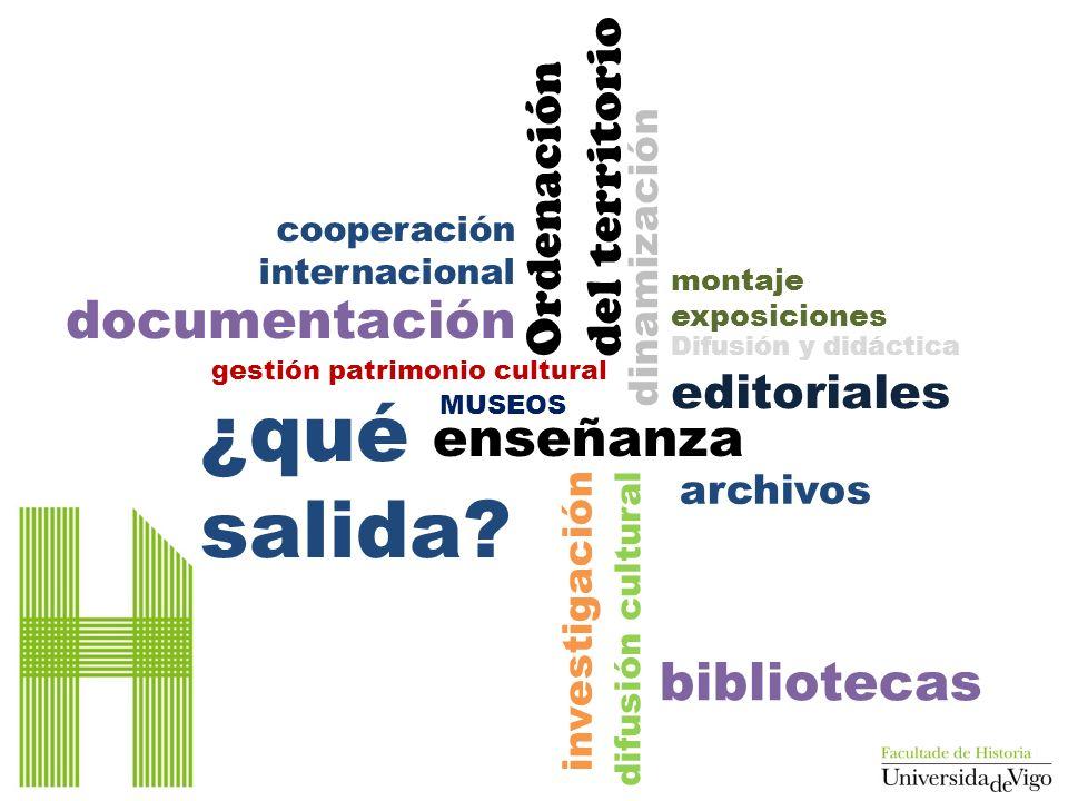 dinamización difusión cultural enseñanza gestión patrimonio cultural investigación bibliotecas MUSEOS editoriales Difusión y didáctica archivos Ordena