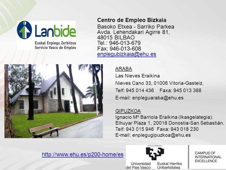 Centro de Empleo Bizkaia Basoko Etxea - Sarriko Parkea Avda.