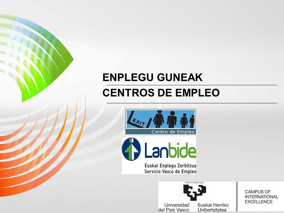ENPLEGU GUNEAK CENTROS DE EMPLEO