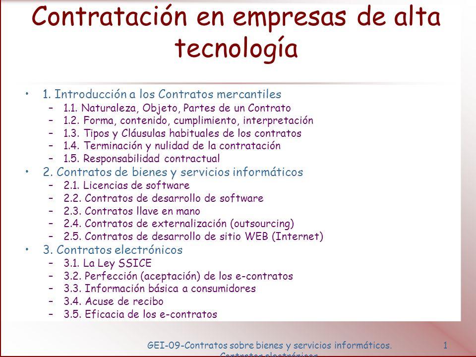 Contratos sobre bienes y servicios informáticos.Contratos electrónicos.