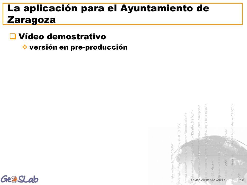 11-noviembre-201118 La aplicación para el Ayuntamiento de Zaragoza Vídeo demostrativo versión en pre-producción