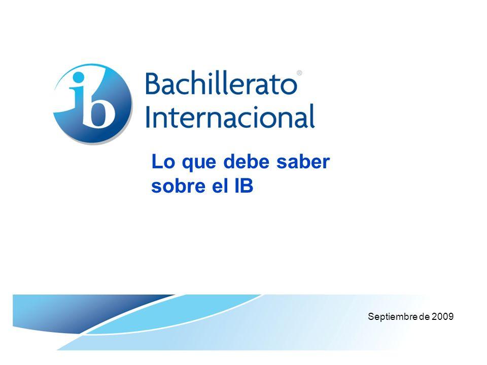Lo que debe saber sobre el IB Septiembre de 2009