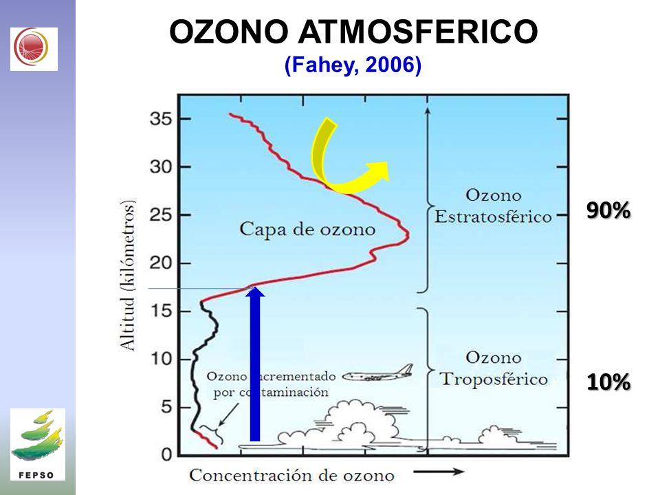 OZONO ATMOSFERICO (Fahey, 2006) 90% 10%
