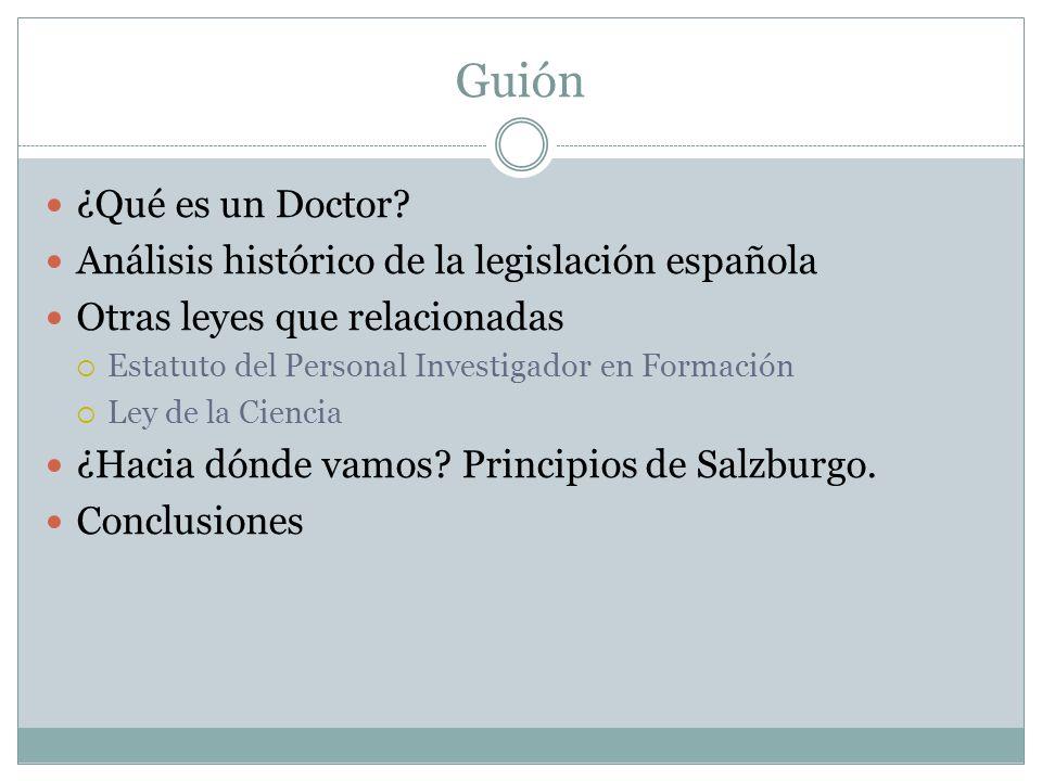 Guión ¿Qué es un Doctor.