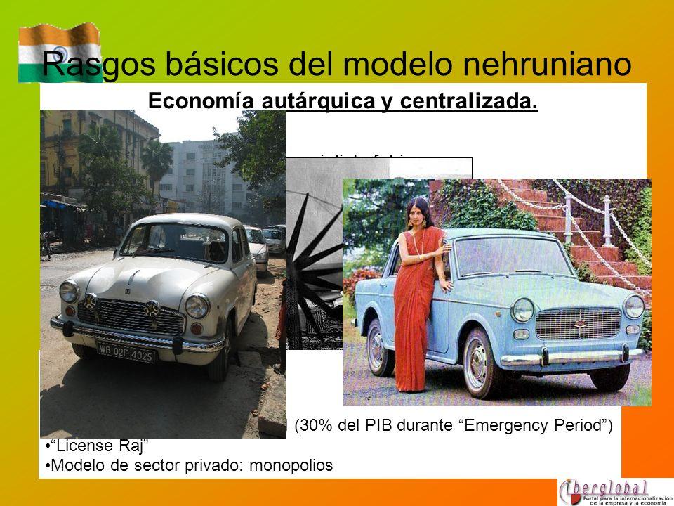 Rasgos básicos del modelo nehruniano Economía autárquica y centralizada. Nehru se definió como un socialista fabiano. Impacto intelectual de la revolu