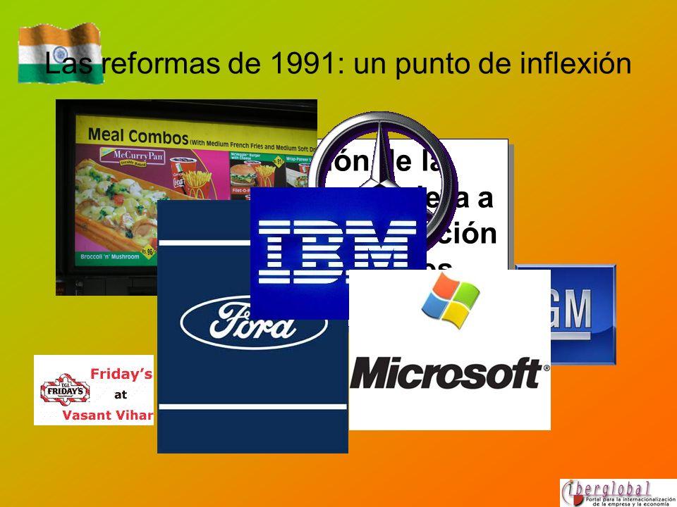 Las reformas de 1991: un punto de inflexión Atracción de la inversión extranjera a través de la reducción de los controles administrativos.