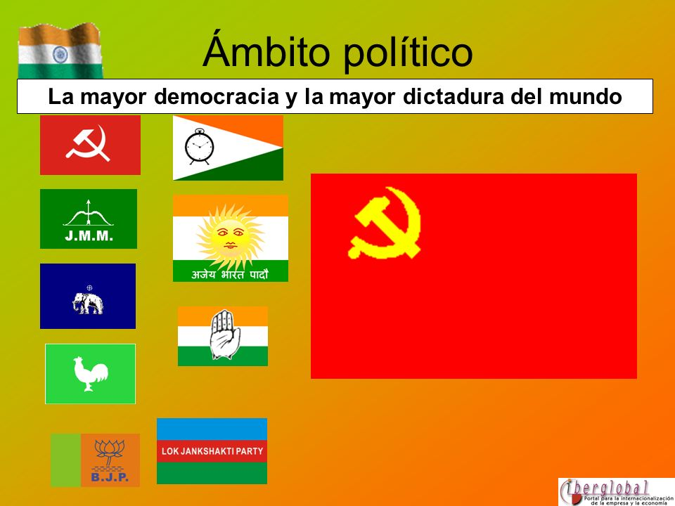 La mayor democracia y la mayor dictadura del mundo Ámbito político