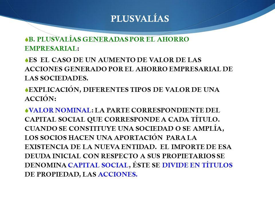 PLUSVALÍAS B.