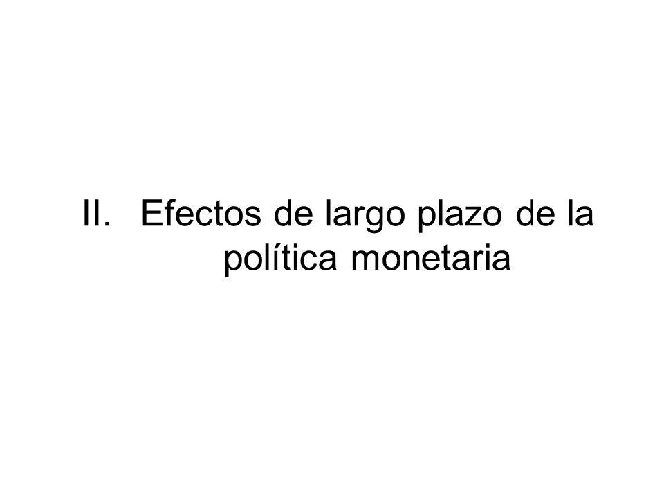 II.Efectos de largo plazo de la política monetaria