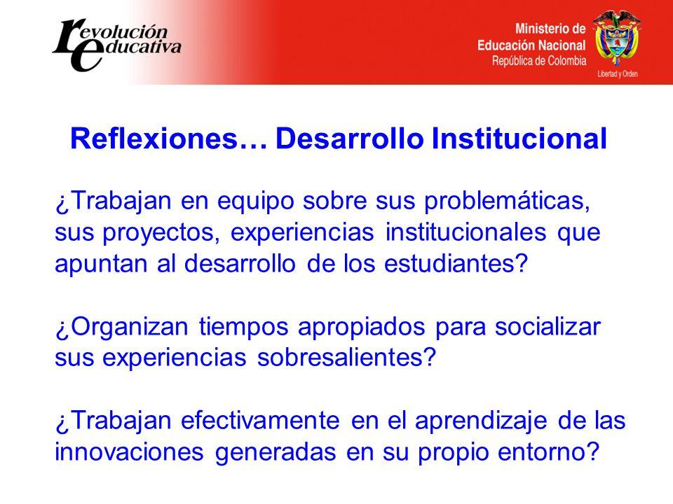 ¿Trabajan en equipo sobre sus problemáticas, sus proyectos, experiencias institucionales que apuntan al desarrollo de los estudiantes? ¿Organizan tiem