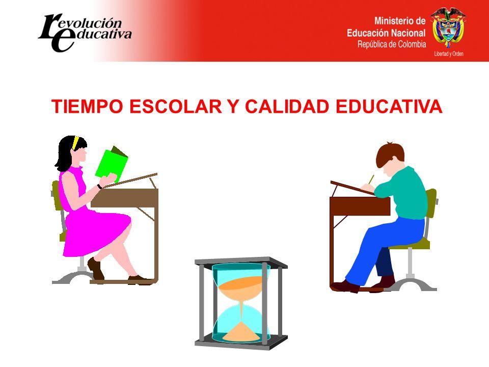 TIEMPO ESCOLAR Y CALIDAD EDUCATIVA