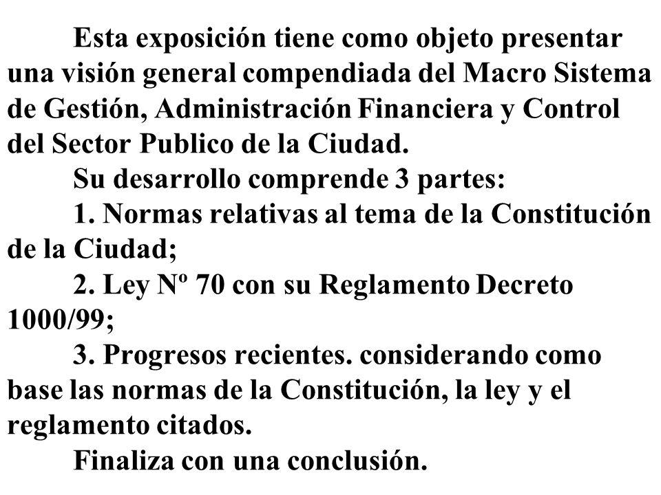 Primera parte Constitución de la Ciudad Rige desde 1/10/96 y establece lineamientos actualizados en la materia.