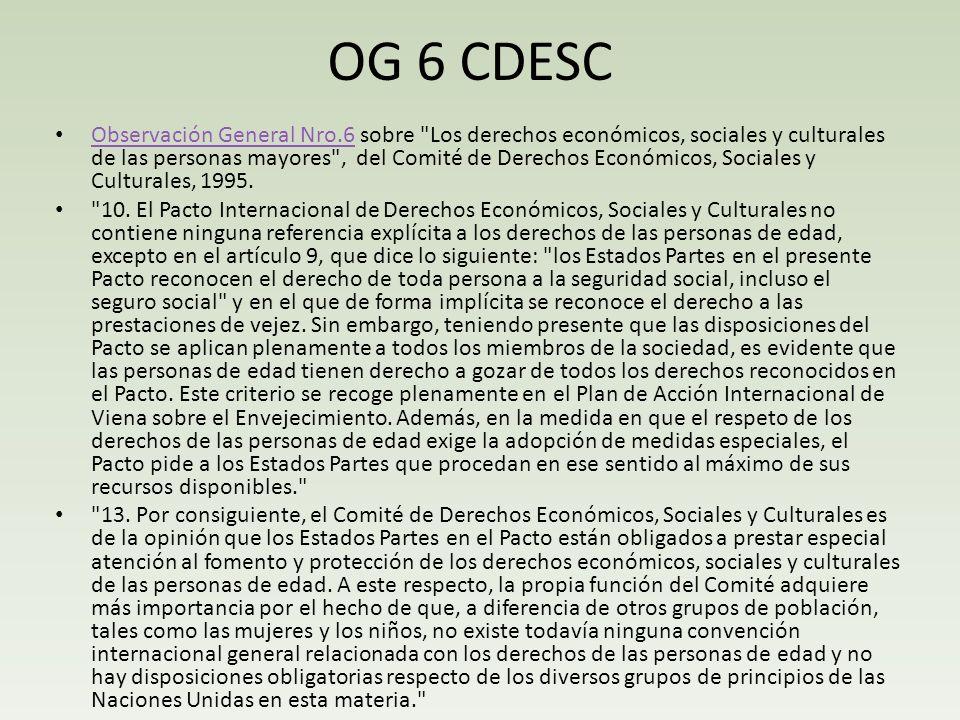 OG 6 CDESC Observación General Nro.6 sobre