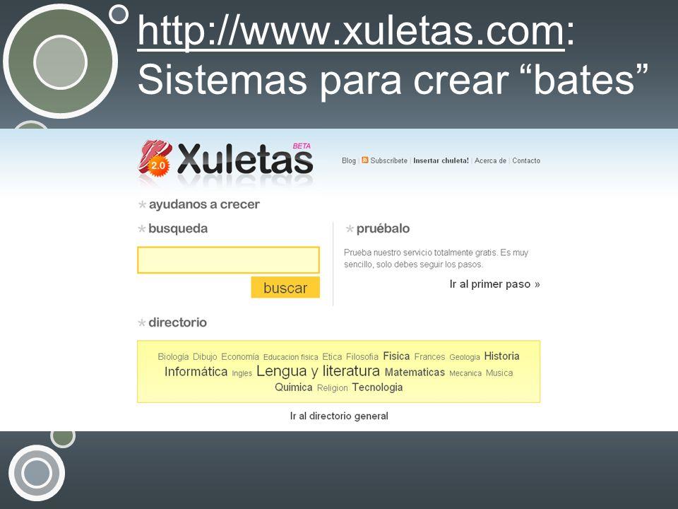 http://www.xuletas.comhttp://www.xuletas.com: Sistemas para crear bates