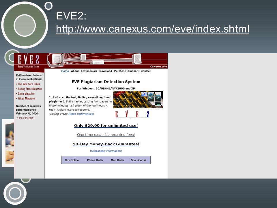EVE2: http://www.canexus.com/eve/index.shtml http://www.canexus.com/eve/index.shtml