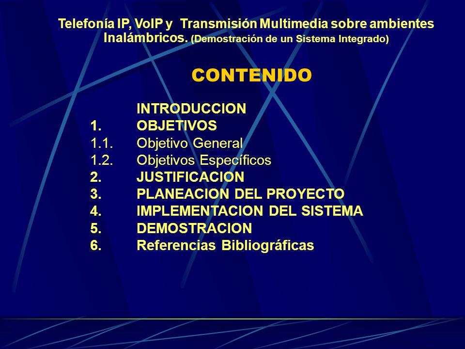 CONTENIDO INTRODUCCION 1.OBJETIVOS 1.1.