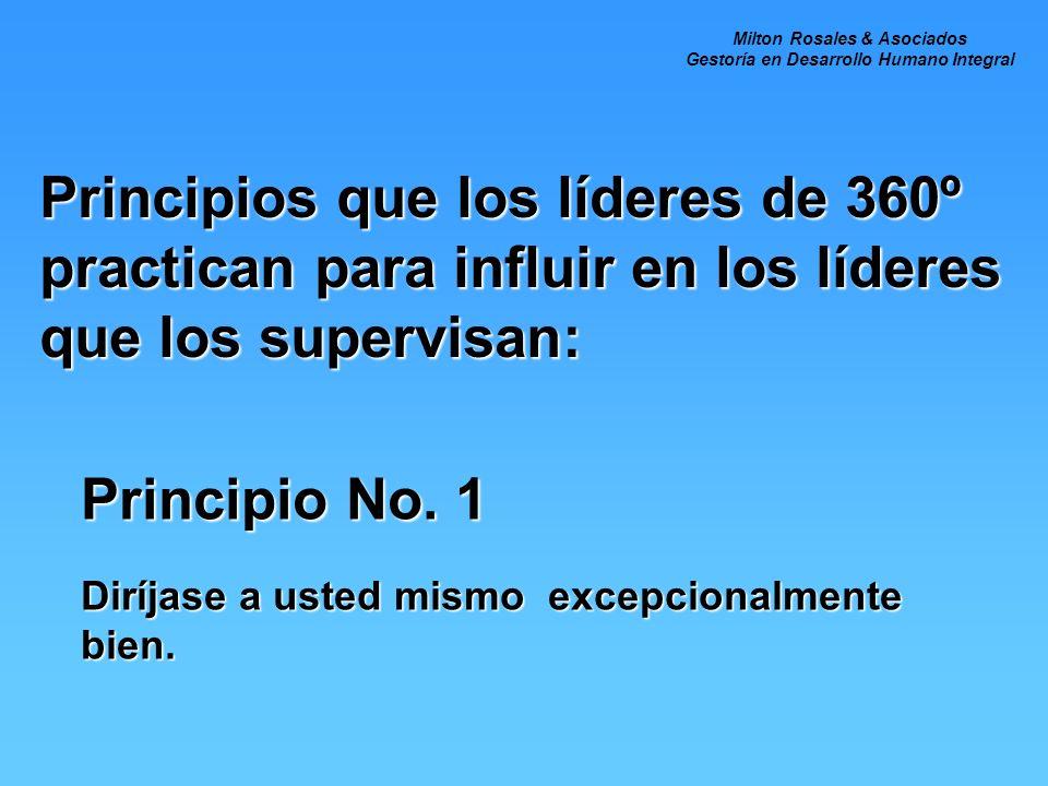 Principios que los líderes de 360º practican para influir en los líderes que los supervisan: Principio No.