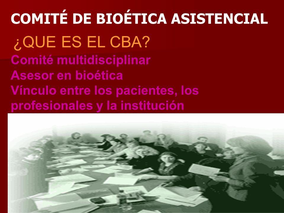 Ramón R. Abarca Fernández31 Comité multidisciplinar Asesor en bioética Vínculo entre los pacientes, los profesionales y la institución COMITÉ DE BIOÉT