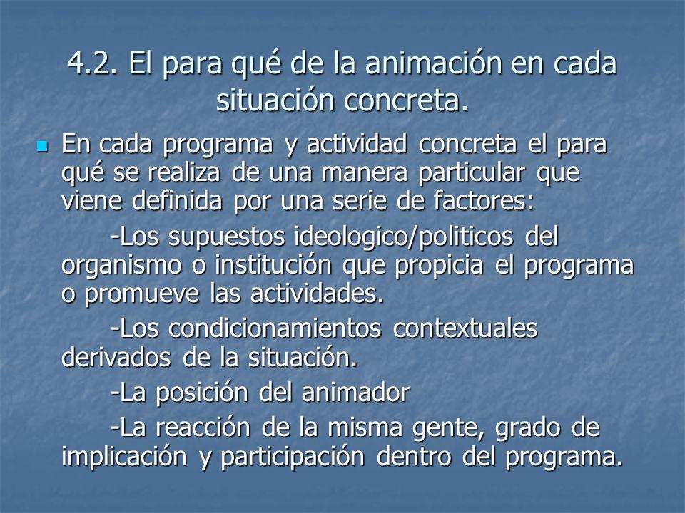 4.2.El para qué de la animación en cada situación concreta.