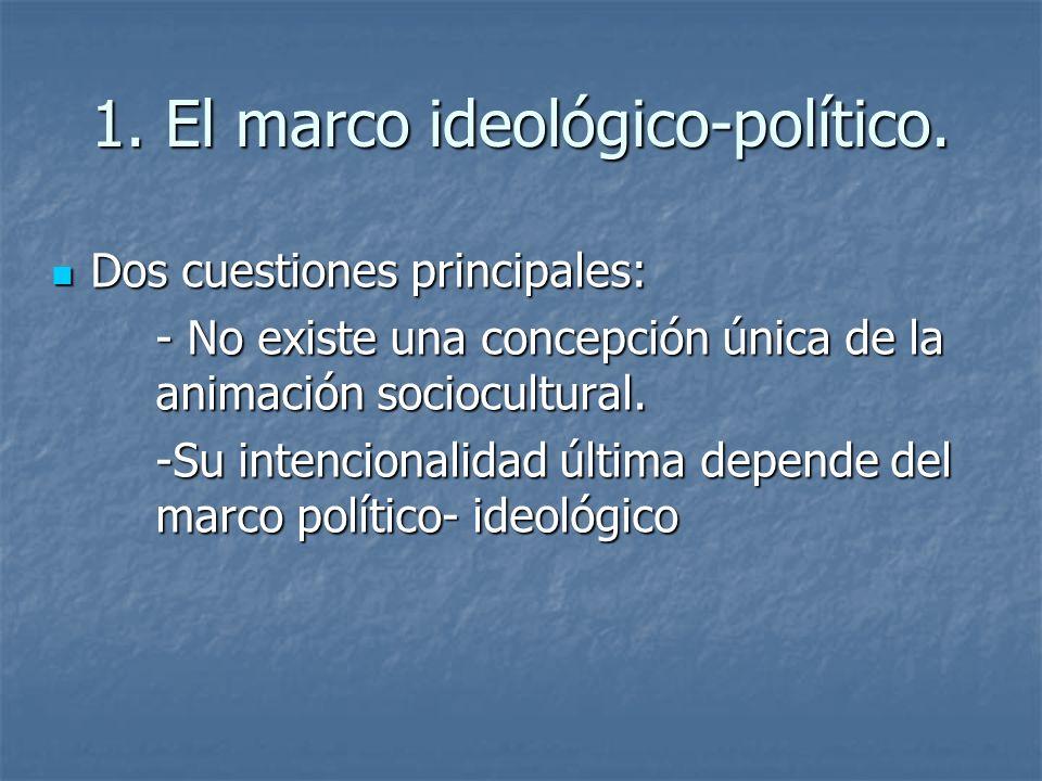 1.El marco ideológico-político.