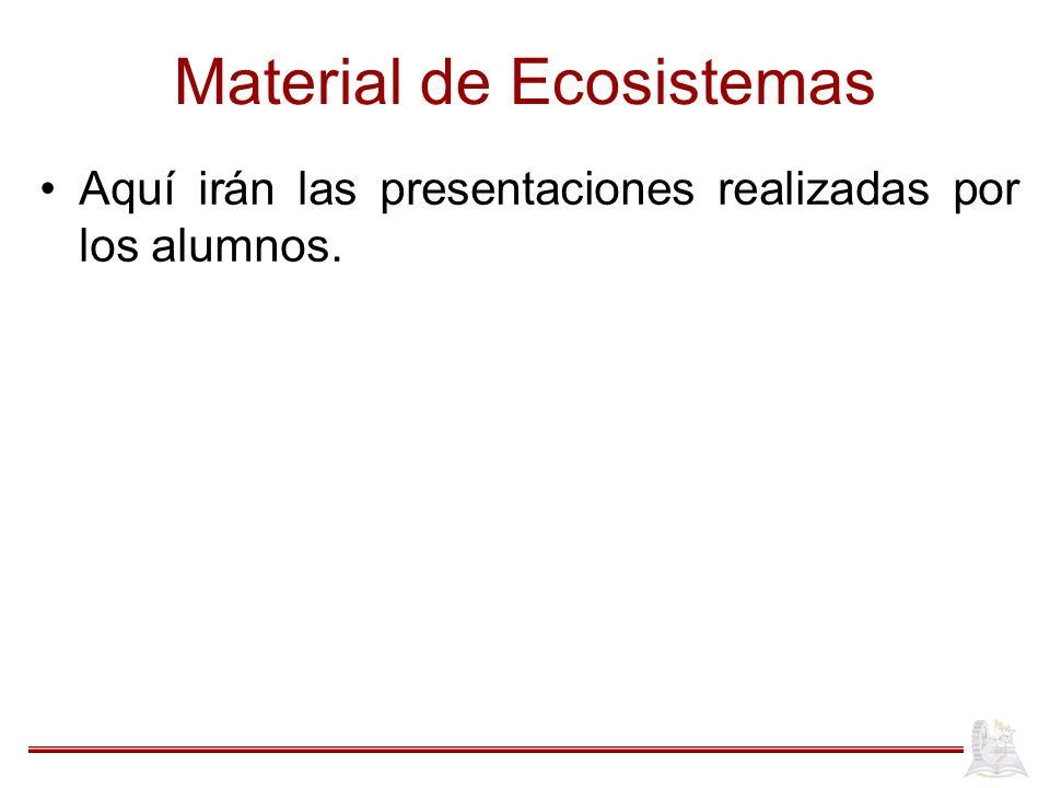 Material de Ecosistemas Aquí irán las presentaciones realizadas por los alumnos.