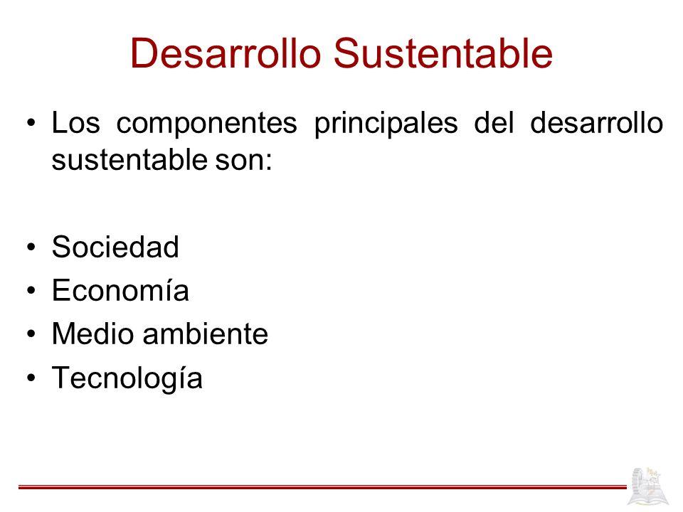 Desarrollo Sustentable ¿Cómo podrá este estilo de desarrollo servir en el siglo próximo si el mundo estará poblado por el doble de personas, todas dependiendo del mismo ambiente.