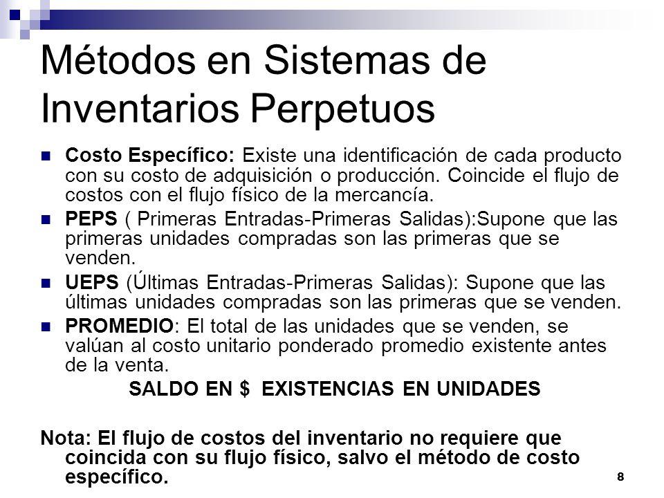 9 Método UEPS Adoptado por el Instituto Mexicano Petrolero en 1934.