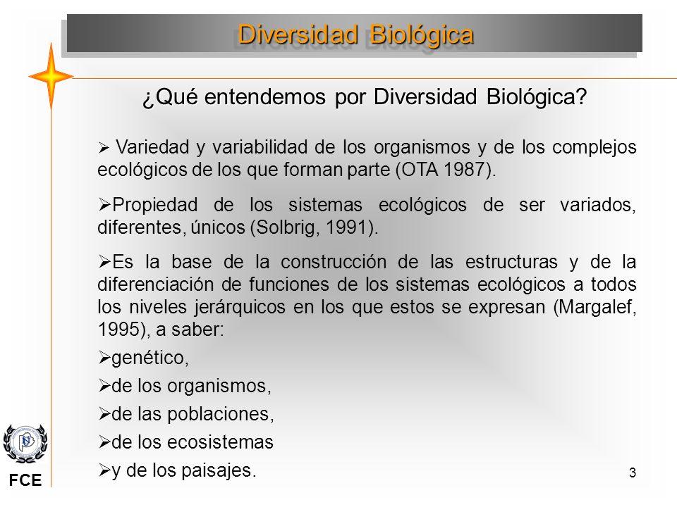 3 Variedad y variabilidad de los organismos y de los complejos ecológicos de los que forman parte (OTA 1987). Propiedad de los sistemas ecológicos de