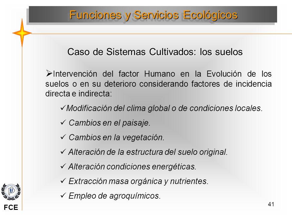 41 Intervención del factor Humano en la Evolución de los suelos o en su deterioro considerando factores de incidencia directa e indirecta: Modificació