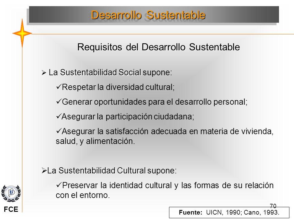 70 Sustentabilidad Social La Sustentabilidad Social supone: Respetar la diversidad cultural; Generar oportunidades para el desarrollo personal; Asegur