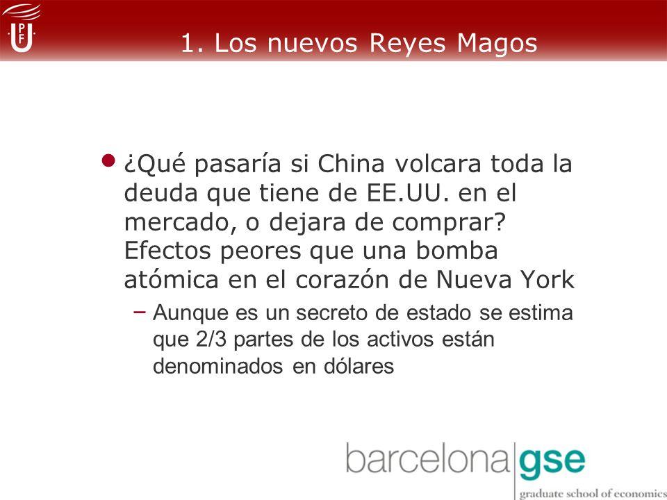 1.Los nuevos Reyes Magos ¿Qué pasaría si China volcara toda la deuda que tiene de EE.UU.