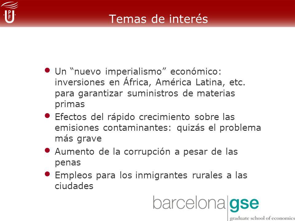 Un nuevo imperialismo económico: inversiones en África, América Latina, etc.