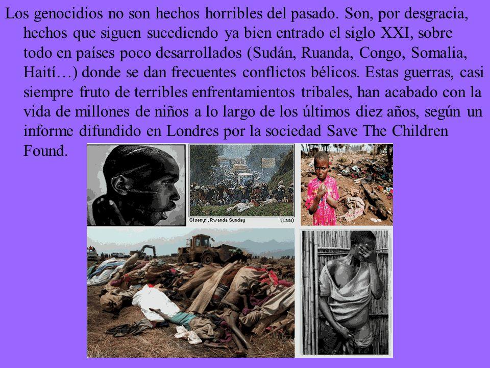 El llamado holocausto realizado por el régimen nazi, instaurado en Alemania por Adolf Hitler en el año 1933,es uno de los genocidios más conocidos de