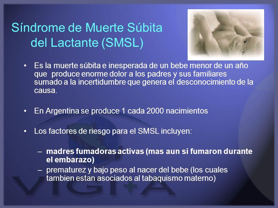Síndrome de Muerte Súbita del Lactante (SMSL) Es la muerte súbita e inesperada de un bebe menor de un año que produce enorme dolor a los padres y sus
