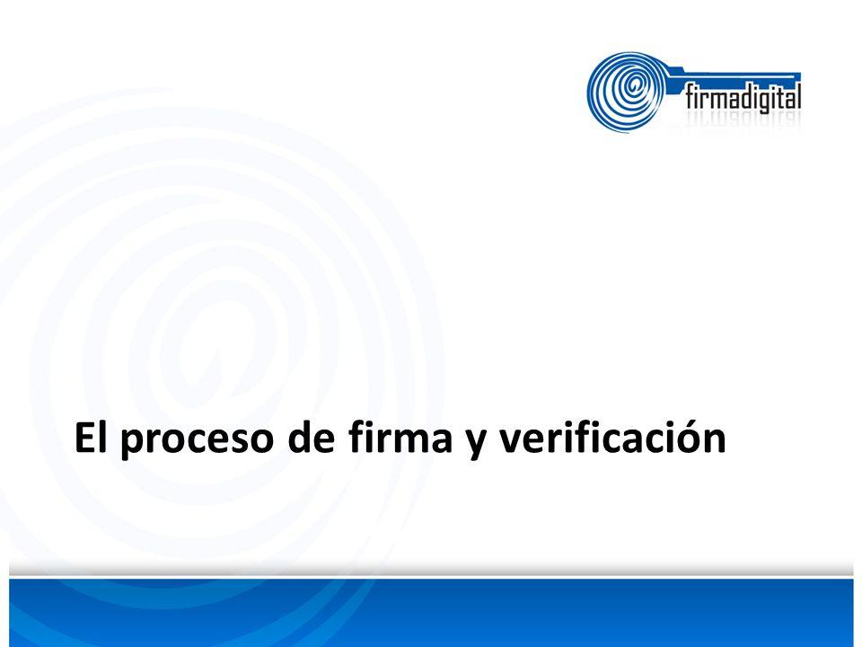 El proceso de firma y verificación