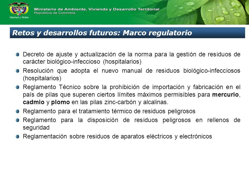 Retos y desarrollos futuros: Marco regulatorio Decreto de ajuste y actualización de la norma para la gestión de residuos de carácter biológico-infecci