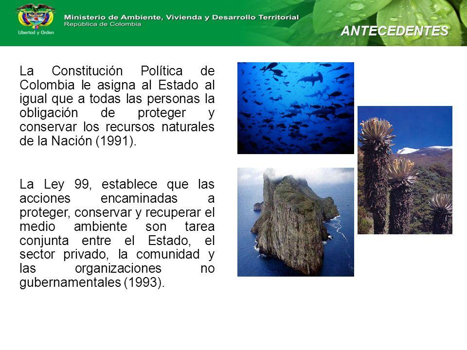 La Constitución Política de Colombia le asigna al Estado al igual que a todas las personas la obligación de proteger y conservar los recursos naturale