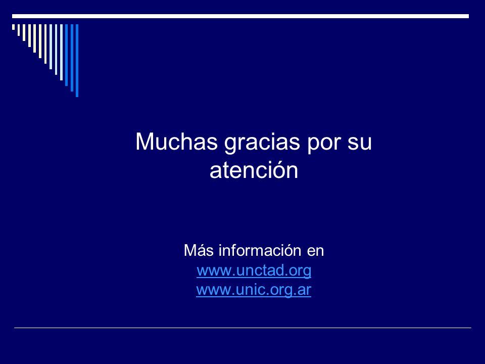 Muchas gracias por su atención Más información en www.unctad.org www.unic.org.ar www.unctad.org www.unic.org.ar