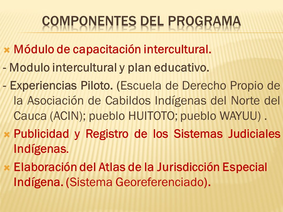Módulo de capacitación intercultural. - Modulo intercultural y plan educativo.