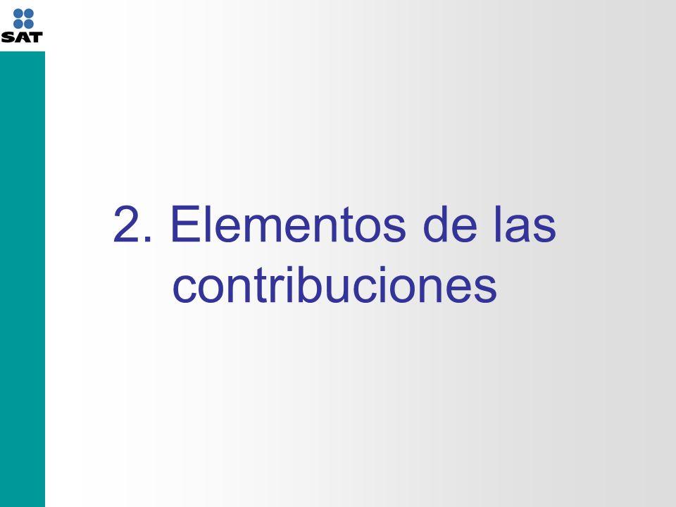 2. Elementos de las contribuciones